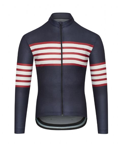 Café Du Cycliste Men's Claudette Jersey - Sailor Blue